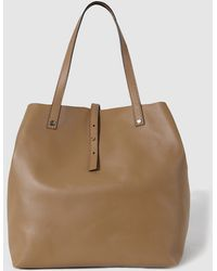 Gloria Ortiz - Sofia Camel Leather Shopper Bag With A Medium Strap - Lyst