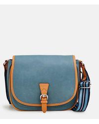 Esprit Pale Blue Crossbody Bag With Flap