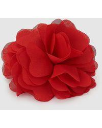 El Corte Inglés Red Flower Clip Hair Fascinator