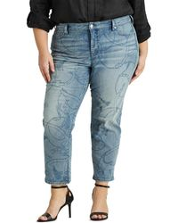 Denim & Supply Ralph Lauren Plus Size Maxi Print Straight Leg Jeans - Blue