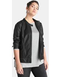 Couchel - Plus Size Black Biker Jacket - Lyst