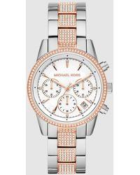 Michael Kors - Ritz Mk6651 Two-tone Steel Chronograph Watch - Lyst