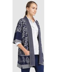 Zendra El Corte Inglés - El Corte Inglés Zendra Oversize Cardigan With Pockets - Lyst