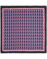 Tommy Hilfiger Brand Print Silk Bandanna - Blue