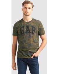 Gap - Short Sleeved Camouflage Print T-shirt - Lyst