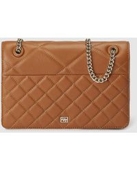 Gloria Ortiz - Fleur Camel-coloured Leather Crossbody Bag With Quilting - Lyst