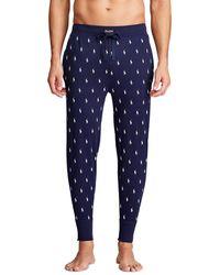 Polo Ralph Lauren Pantalón De Pijama Largo De Punto De Hombre Azul