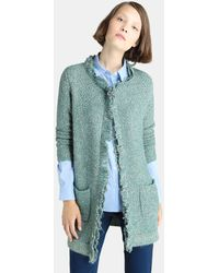 Zendra El Corte Inglés - El Corte Inglés Zendra Green Tweed Coat - Lyst