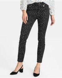 Yera - Polka Dot Print Skinny Trousers - Lyst