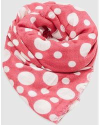 Esprit Coral Foulard With Polka Dots In Different Sizes - Pink