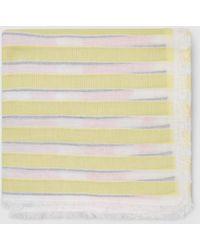 Esprit Navy Blue Striped Cotton Foulard