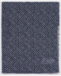 El Corte Inglés Maxi Bufanda En Azul Marino Con Estampado Geométrico