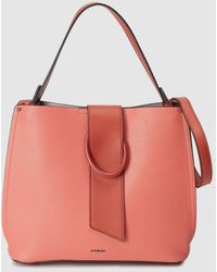 Jo & Mr. Joe Coral Hobo Bag With A Matching Buckle - Pink