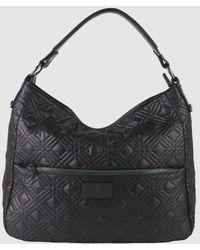 Robert Pietri Black Nylon Hobo Bag With Outer Pockets