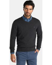 Tommy Hilfiger - Grey V-neck Sweater - Lyst