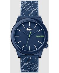 Lacoste - 2010957 Blue And White Silicone Watch - Lyst