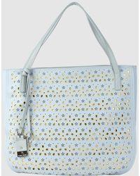 Robert Pietri - Sky Blue Shopper Bag With Cutwork - Lyst