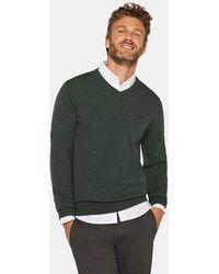 Esprit - Mens Dark Green V-neck Organic Cotton Sweater - Lyst