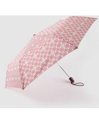Caminatta Fold-up Umbrella With Red Geometric Print