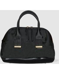 Robert Pietri - Black Faux Patent Leather Handbag - Lyst