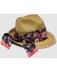 Emporio Armani Wo Hat With Printed Bow - Natural