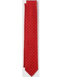 Mirto - Red Silk Tie With Tiny Polka Dot Print - Lyst