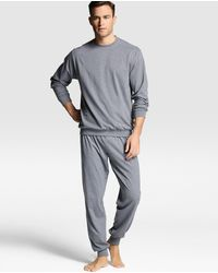 Punto Blanco Pijama De Hombre Gris