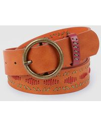 Jo & Mr. Joe The Cribs Brown Belt With A Round Buckle