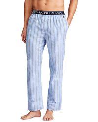 Polo Ralph Lauren Pantalón De Pijama Largo De Tela De Hombre Azul
