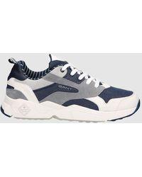 GANT Lacoste Blue Denim Lace-up Sneakers