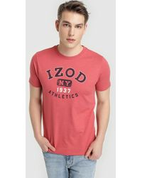 Izod - Red Short Sleeve T-shirt - Lyst