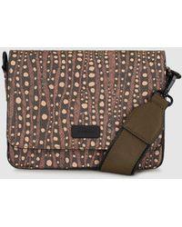 Jo & Mr. Joe - Geneva Small Brown Embellished Print Crossbody Bag - Lyst