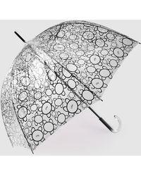 Caminatta - Transparent Umbrella With A Black Print - Lyst