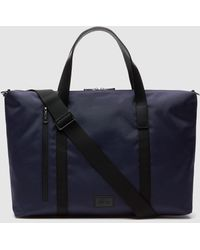 Lacoste Navy Blue Portfolio With Long Detachable Strap