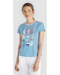 Yera - Short Sleeved T-shirt With Front Print - Lyst