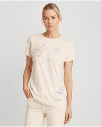 Lauren by Ralph Lauren Wo Plain-coloured Short Sleeve T-shirt - White
