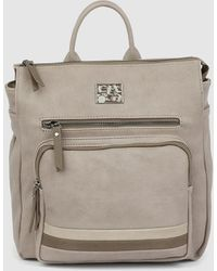 Caminatta Taupe Backpack With Zip - Multicolour