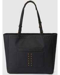 Jo & Mr. Joe - Jo & Mr Joe Eliot Brood Black Shopper Bag With Golden Studs - Lyst