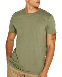 Esprit Mens Khaki Organic Cotton Short Sleeve T-shirt - Green