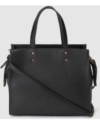 El Corte Inglés - Black Handbag With Raised Flowers - Lyst