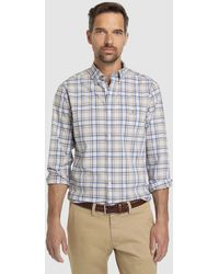 237c42b6e0 Regular-fit Two-tone Checked Shirt - Blue