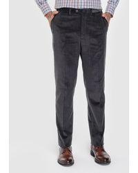 Mirto - Regular-fit Grey Corduroy Trousers - Lyst