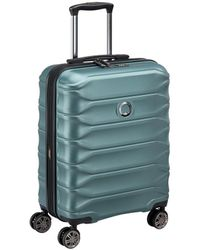 Delsey Meteor Khaki Expandable Hard-sided Cabin luggage Up To 41 L - Blue