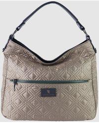 Robert Pietri Taupe Nylon Hobo Bag With Outer Pockets - Gray