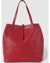 Gloria Ortiz - Sofia Red Leather Shopper Bag With A Medium Strap - Lyst