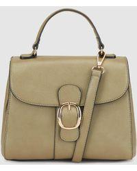El Corte Inglés - Khaki Handbag With A Front Buckle - Lyst