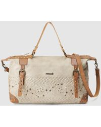 Pepe Moll - Taupe Bowling Bag With A Long Detachable Strap - Lyst