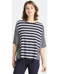 Zendra El Corte Inglés - El Corte Inglés Zendra Striped T-shirt With French Sleeves - Lyst