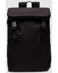Lacoste Large Black Backpack With Embroidered Logo
