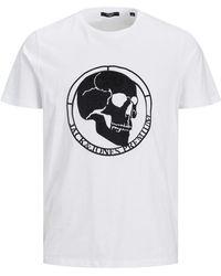 Jack & Jones Camiseta De Hombre Blanca De Manga Corta - Blanco